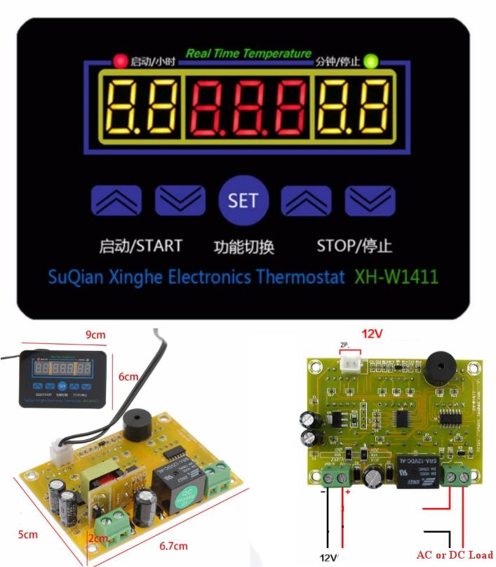 12V XH-W1411 thermostat Temperature controller inc