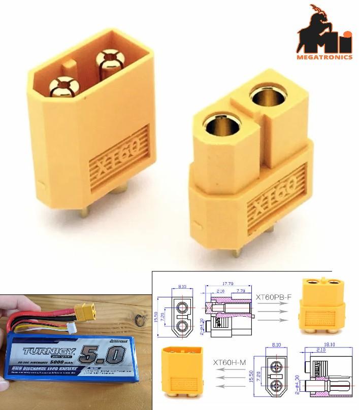 XT60 Bullet Connectors plugs Male/ Female RC lipo