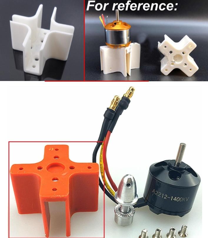 XXD 2212 brushless motor mounting holder plastic 2
