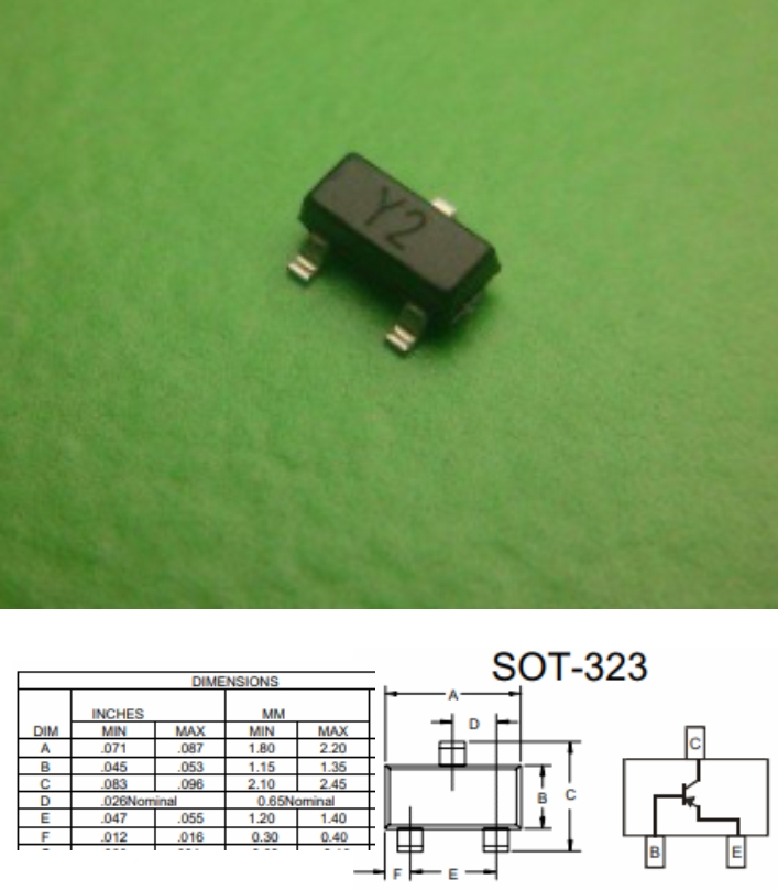 SS8550 Y2 PNP SMD transistor SOT-23 high current