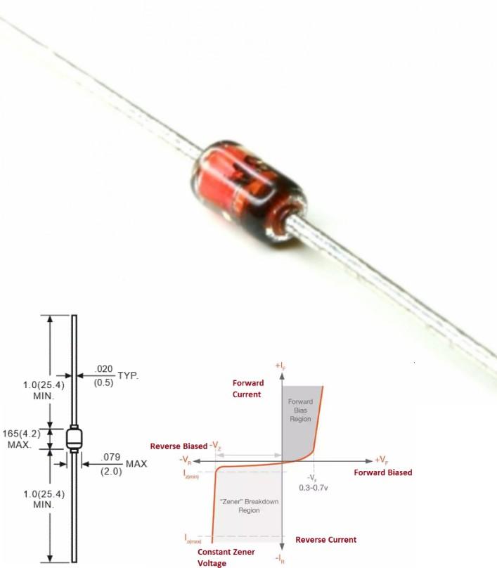 1N5226 3.3V 500mW Zener Diode DO-41