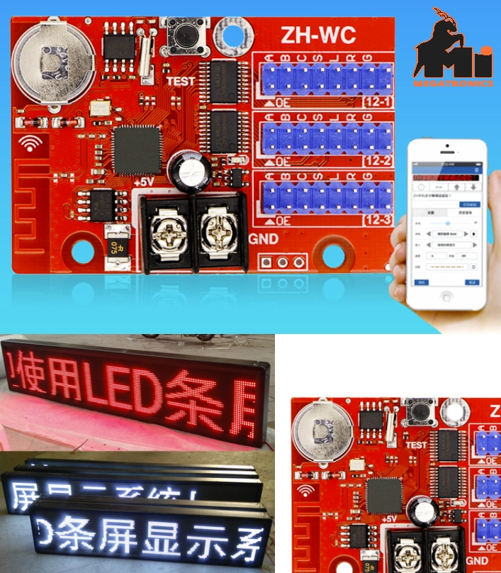 AVIC ZH-WC wireless WiFi control card led display