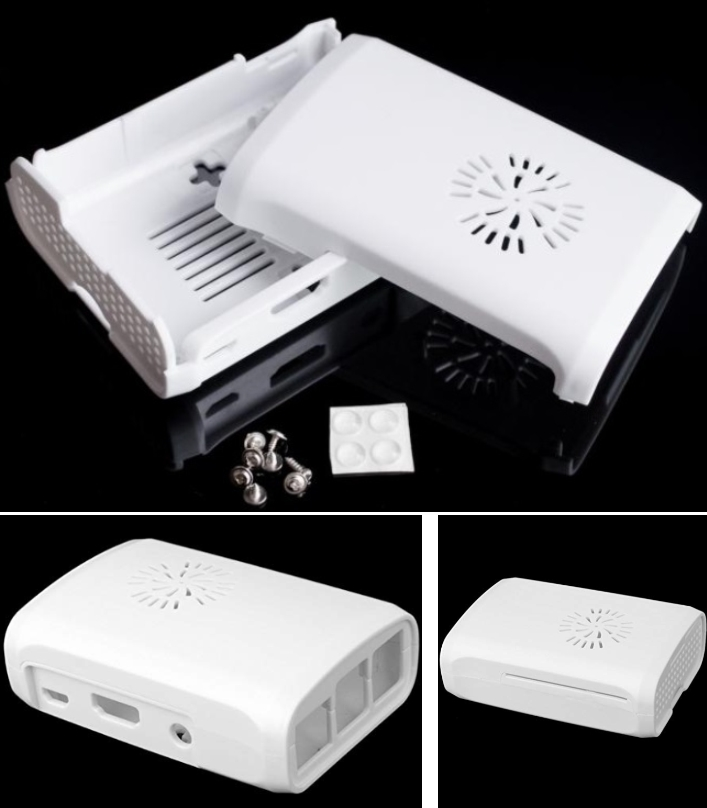 Raspberry Pi B+ Pi 2 Enclosure Case Support Fan Fi