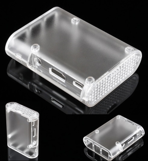 raspberry pi 3 and 2 crystal Case Cover Shell Encl