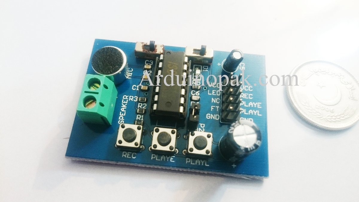 ISD1820 sound Voice Recording Module (On-board mic